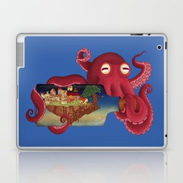 World in bottle: Atalantis (Octopus - monster) Laptop & iPad Skin