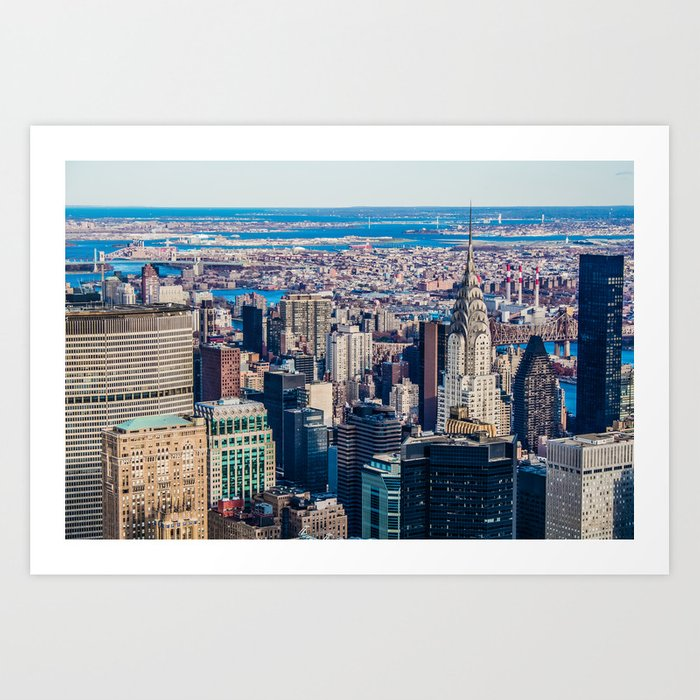 Midtown from top (HDR Color) Art Print
