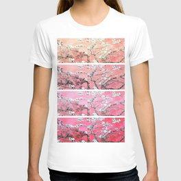 Vincent Van Gogh Almond Blossoms Panel Pink Peach T-shirt