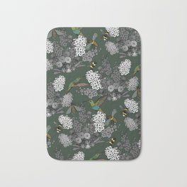 Hummingbirds and Bees (don't let them fade away) Bath Mat