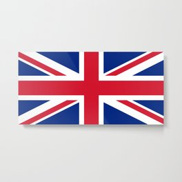 UK Flag, High Quality Authentic 3:5 Scale Metal Print