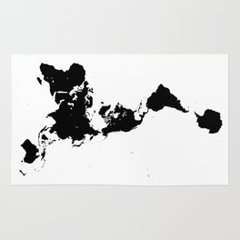 Minimalist map rugs society6 dymaxion world map fuller projection map minimalist black on white rug gumiabroncs Images