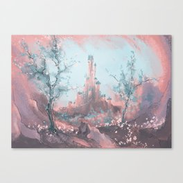 The roseate castle. Canvas Print