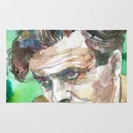 ALDOUS HUXLEY - watercolor portrait.2 Rug