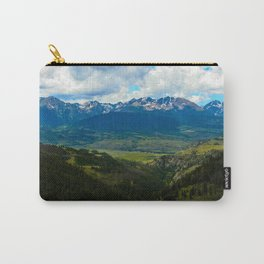 Gore Range with ranches below Carry-All Pouch