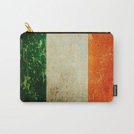 Grunge Irish Flag / Irish Tricolour Carry-All Pouch