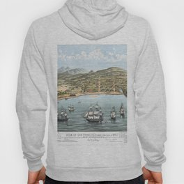 SAN FRANCISCO CALIFORNIA city old map Father Day art print poster Hoody