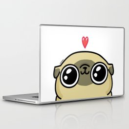 Mochi the pug loves you Laptop & iPad Skin