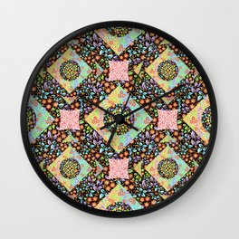 Boho Chic Patchwork Wall Clock
