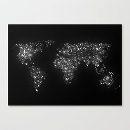 Tiny light spec in the great big universe Canvas Print