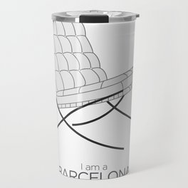 Chairs - A tribute to seats: I'm a Barcelona (poster) Travel Mug