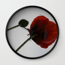 poppies free spirits of the garden Wall Clock