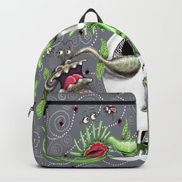 skull pot with carnivorous plants Backpack
