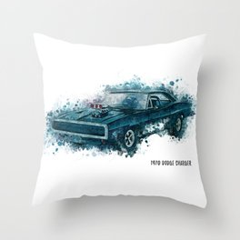 1970 Dodge Charger Throw Pillow
