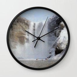 Skógafoss (Skogafoss) Wall Clock