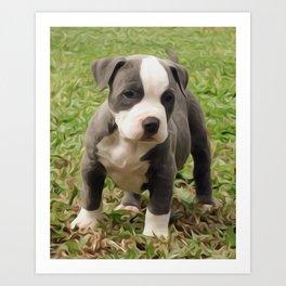 Pit Bull Puppy Art Print