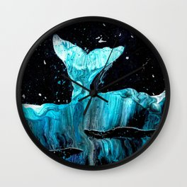 Whale of a Tail Wall Clock