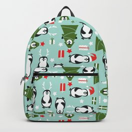 Penguin Party Pattern Backpack