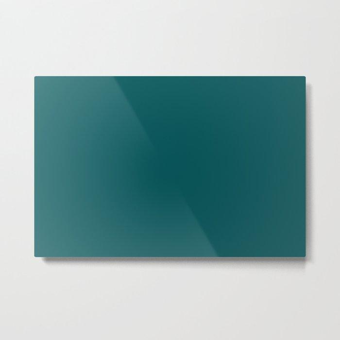 Pantone 19-4524 Shaded Spruce Metal Print