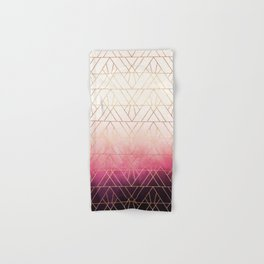 Pink Ombre Triangles Hand & Bath Towel