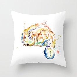 Beaver - Oh Canada Throw Pillow