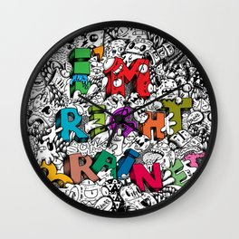 I'm right brained Wall Clock