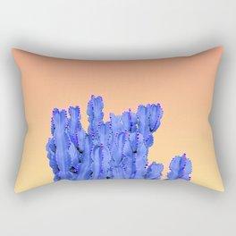 Blue Cactus at Sunset Rectangular Pillow