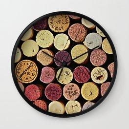 Wine Tops Wall Clock