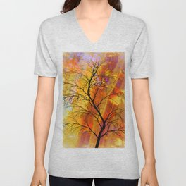 the naked tree Unisex V-Neck