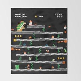 Super Mario x Donkey Kong level mockup Throw Blanket