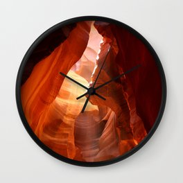 A Canyon Sculptured By Water Wall Clock