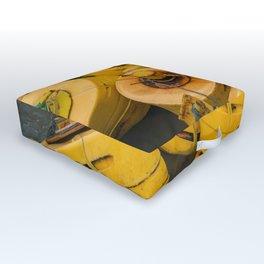 Yellow gathering Outdoor Floor Cushion