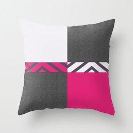 Monochrome Pink Tiles Throw Pillow