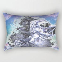 astronauts reach for dreams Rectangular Pillow