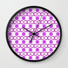 Retrocity in Grape Wall Clock