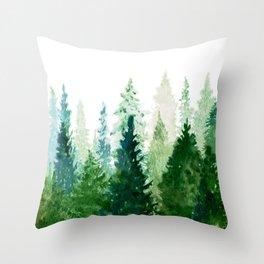 Pine Trees 2 Throw Pillow