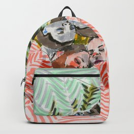 Ying Yang Couple in Bed Backpack