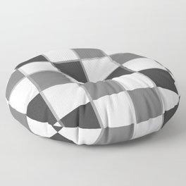 Slate & Gray Checkers / Checkerboard Floor Pillow