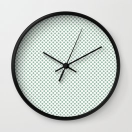Grayed Jade Polka Dots Wall Clock