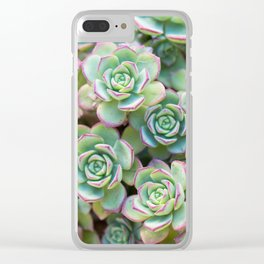 Green grass pattern Clear iPhone Case