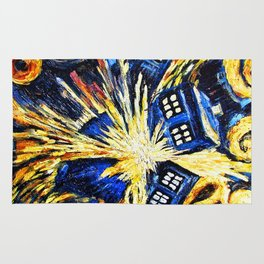 Tardis By Van Gogh - Doctor Who Rug