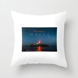 Cape Neddick - Maine. Throw Pillow