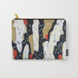 Spotted Abstract in Neutral Carry-All Pouch