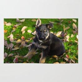 Little German Shepherd puppy Rug