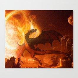 Dragon's world Canvas Print