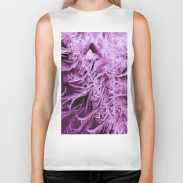 White Ice Crystals On A Purple Background #decor #society6 #homedecor Biker Tank