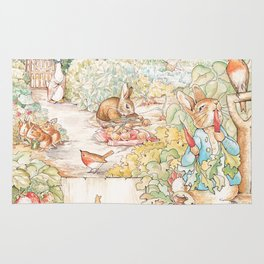 The World of Beatrix Potter illustration Rug