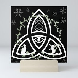 Celtic Knot, Evil Eye, and Cats Mini Art Print