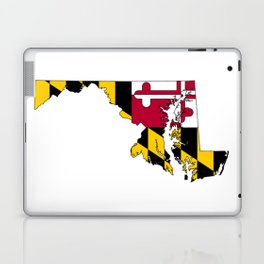 Maryland Map with Flag of Maryland Laptop & iPad Skin