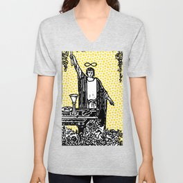 Modern Tarot - 1 The Magician Unisex V-Neck
